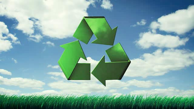 Clouds of a recycle symbol